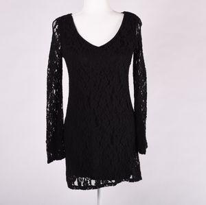 Socialite black lace dress size XS